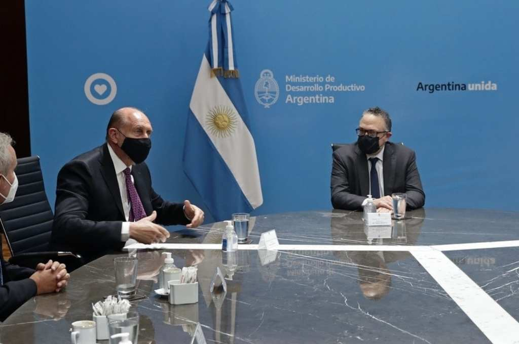Este miércoles el gobernador Omar Perotti mantuvo una reunión junto al ministro de Desarrollo Productivo, Matías Kulfas.ón de hoy  Crédito: Gentileza Gobierno de la Provincia de Santa Fe