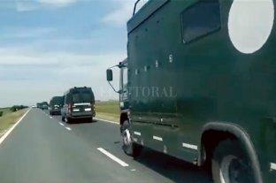 Caravana de gendarmes a la provincia de Santa Fe