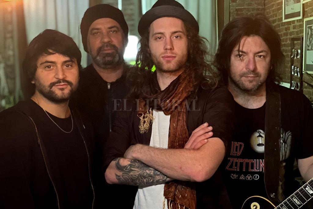 """Formación actual: Nico Bordón (bajo y voces), Javier """"Mono"""" Farelli (batería), Leo Bonzi (voz) y Cristian """"Matt Hungo"""" Deicas (guitarra). Crédito: Gentileza producción"""