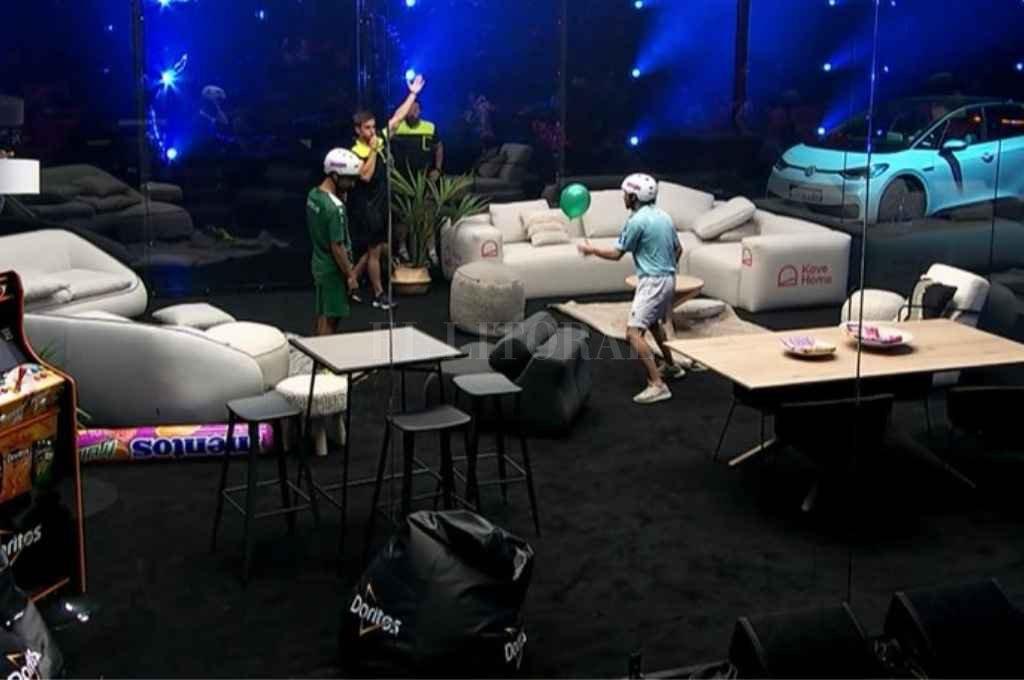 El escenario que se montó para jugar el mundial de globos. Crédito: Gentileza