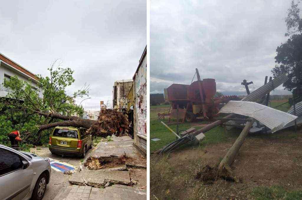 Fuertes vientos causaron destrozos en la provincia de Córdoba. Crédito: Gentileza