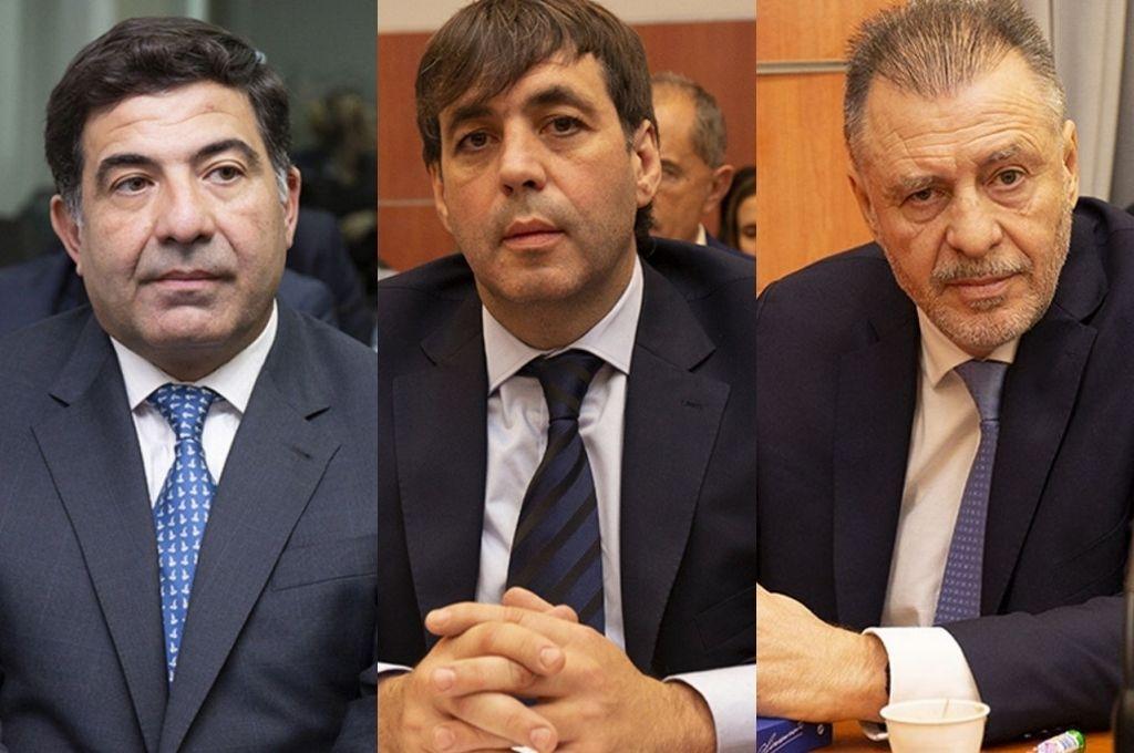 Ricardo Echegaray, Fabián De Sousa y Cristóbal López. Crédito: Archivo