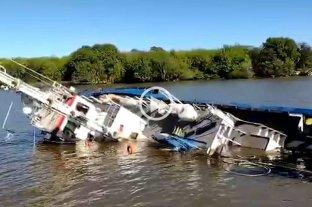 Se hundió un remolcador en el puerto de La Plata