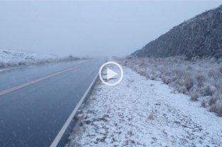 Video: volvió a nevar en las Sierras de Córdoba