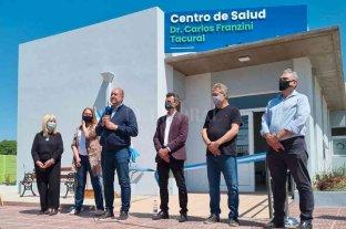 Calvo participó de la inauguración del Samco en Tacural