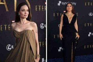 """Salma Hayek y Angelina Jolie se lucieron en la alfombra roja de la premiere de """"Eternals"""""""