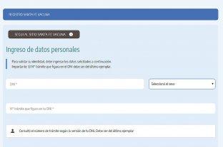 Se registra una falla en la web de Santa Fe Vacuna -
