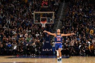 Increíble actuación de Stephen Curry para la victoria de los Warriors