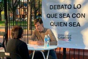 """""""Debato lo que sea con quien sea"""", la foto viral de Roberto Moritán candidato de Juntos por el Cambio"""