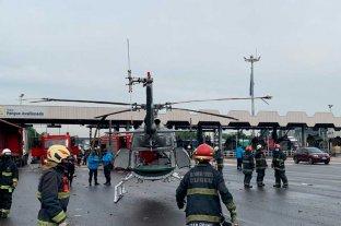 Insólito: un camión chocó a un helicóptero de emergencias médicas en Buenos Aires