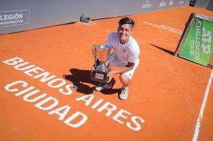 Sebastián Báez ganó el torneo de Buenos Aires y sumó su quinto Challenger del año