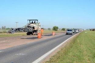 Siguen las obras de repavimentación de la Autopista Rosario-Córdoba