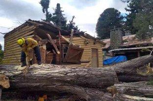 Un fuerte temporal de viento azotó la Patagonia ocasionando graves destrozos en la región