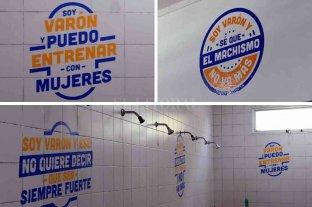 Polémica en el club El Quillá por una campaña con cartelería sobre la discriminación y las masculinidades -