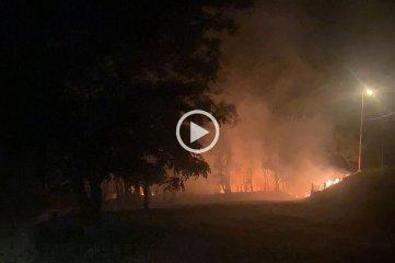Video: incendio en el circuito del Automóvil Club