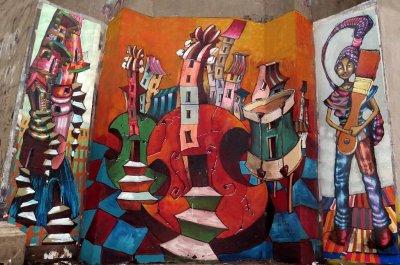 Las calles de Rosario se visten de arte de la mano del muralista Jorge Molina