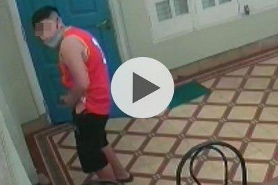 Video: entró a robar en un local de Rafaela y se masturbó mirando una clase de yoga