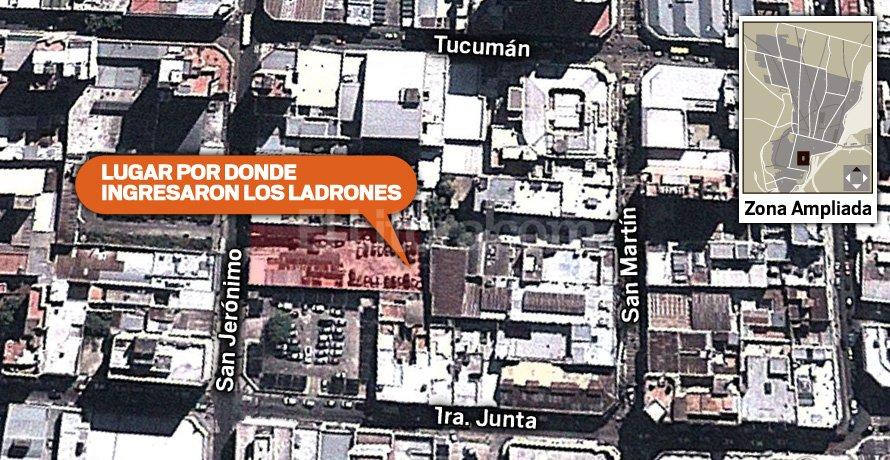 Imagen de la zona de la ciudad donde fue el robo. El Litoral