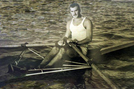 El gran remero. Participó en los Juegos Olímpicos de Londres. El deporte fue su pasión y se destacó en el remo. Archivo El Litoral