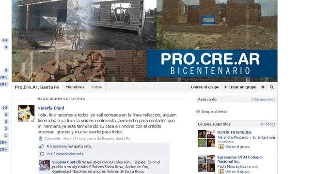 Santa Fe Facebook: Procrear: Se Creó Un Grupo De Beneficiarios De Santa Fe En